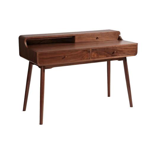 1 Unit of Plata Import Patron Wood Desks - MSRP 1120$ - Brand New (Lot # CP546205)