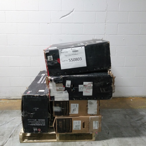 5 Units of High Value Monitors - MSRP 8924$ - Salvage (Lot # 550803)