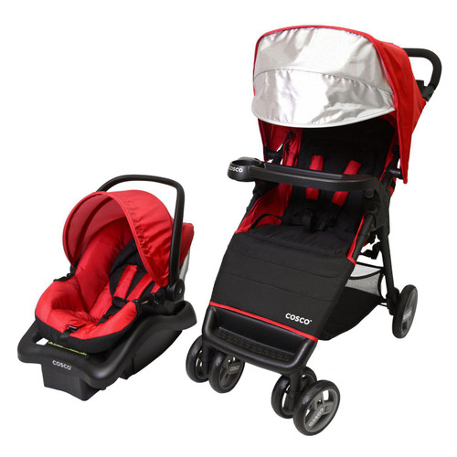 1 Unit of Cosco Simple Fold Plus Travel System (Ruby Red) - MSRP 250$ - Brand New (Lot # CP552001)