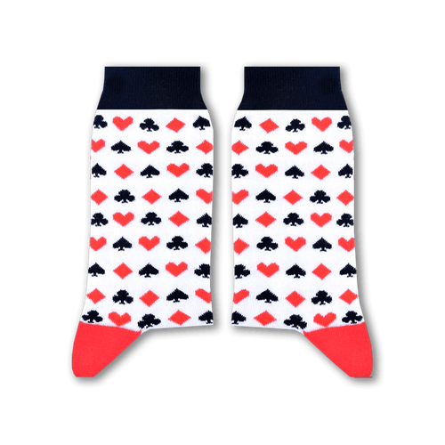 Sikasok Cards Socks White (Women's)
