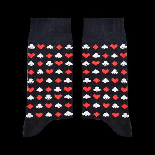 Sikasok Cards Socks Black (Men's)