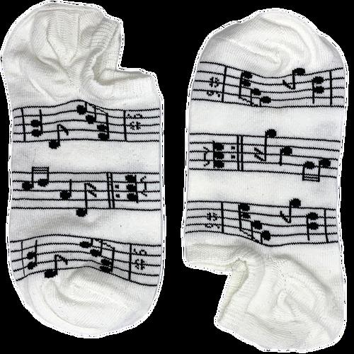 Musical Notes White Short (Women)