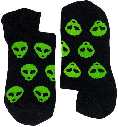 Aliens Green on Black Short (Women)