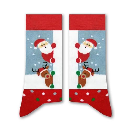 Sikasok Peek-a-Boo Santa Socks