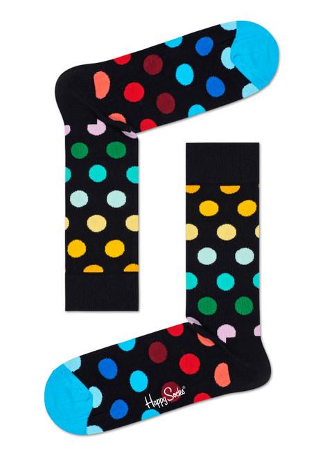Happy Socks - Big Dot Blue Toes Socks (Men)