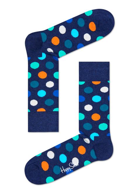Happy Socks - Big Dot Navy Socks (Men)