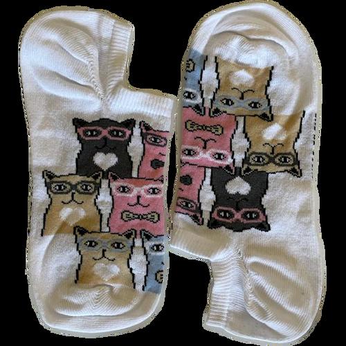 Nerdy Cats White Short (Women)