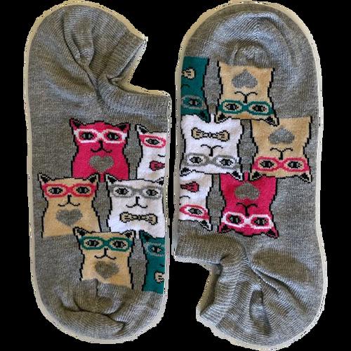 Nerdy Cats Grey Short (Women)