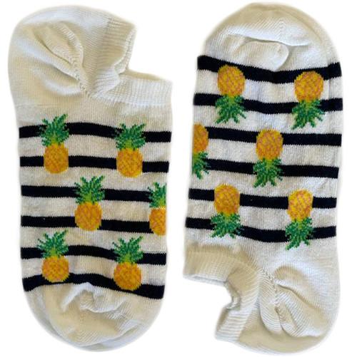 Pineapple Black Stripes White Short (Women)