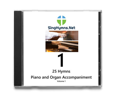 25 Hymns Volume 1 - Piano  and Organ Together Accompaniment  CD - Choose High or Low
