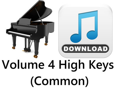 25 Hymns Volume 4 PIANO HIGH (Common) MP3 Download (1 Zip File)