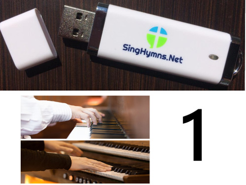 25 Hymns Volume 1 PIANO & ORGAN Duo Accompaniment Loaded on USB Thumb Drive