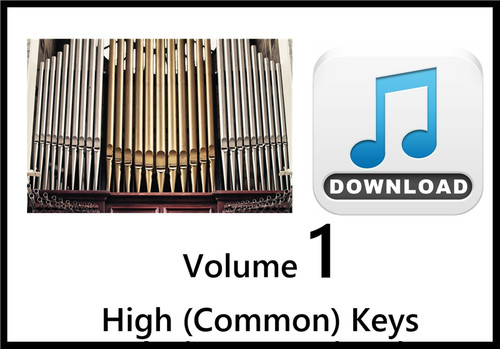 25 Hymns Volume 1 ORGAN Accompaniment HIGH (Common) Keys MP3 Download (1 Zip File)