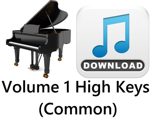 25 Hymns Volume 1 PIANO Accompaniment HIGH (Common) MP3 Download (1 Zip File)