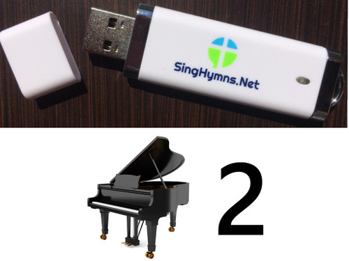 25 Hymns Volume 2 Piano MP3s Loaded on USB Thumb Drive