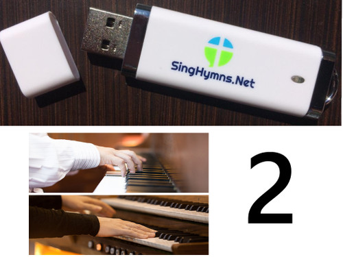 25 Hymns Volume 2 PIANO & ORGAN Duo Accompaniment Loaded on USB Thumb Drive
