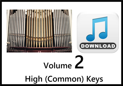 25 Hymns Volume 2 ORGAN Accompaniment HIGH (Common) MP3 Downnload (1 Zip File)