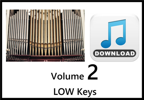 25 Hymns Volume 2 ORGAN Accompaniment LOW Keys MP3 Download (1 Zip File)
