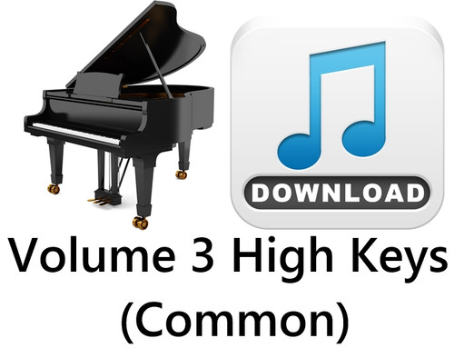 25 Hymns Volume 3 PIANO Accompaniment HIGH (Common) MP3 Download (1 Zip File)