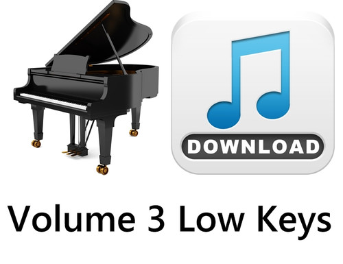 25 Hymns Volume 3 PIANO Accompaniment LOW Keys MP3 Download (1 Zip File)
