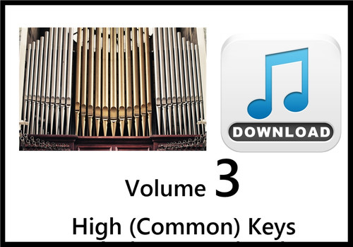 25 Hymns Volume 3 ORGAN Accompaniment HIGH (Common) MP3 Download (1 Zip File)