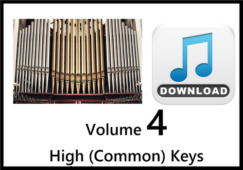 25 Hymns Volume 4 ORGAN Accompaniment HIGH (Common) MP3 Download (1 Zip File)