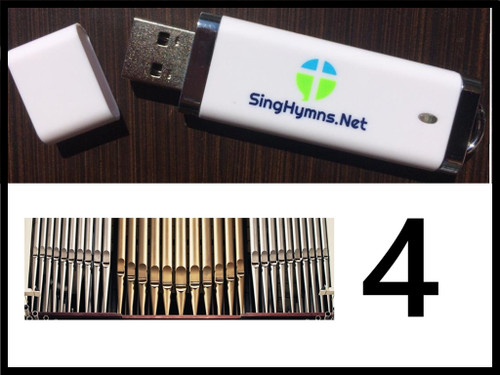25 Hymns Volume 4 ORGAN Accompaniment MP3s Loaded on USB Thumb Drive