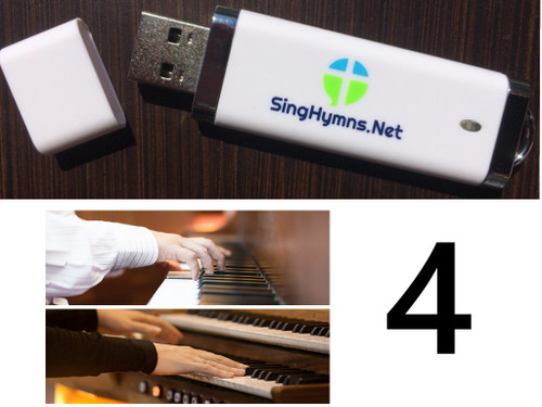 25 Hymns Volume 4 PIANO & ORGAN Duo Accompaniment Loaded on USB Thumb Drive