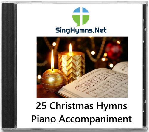 25 Christmas Hymns PIANO Accompaniment CD