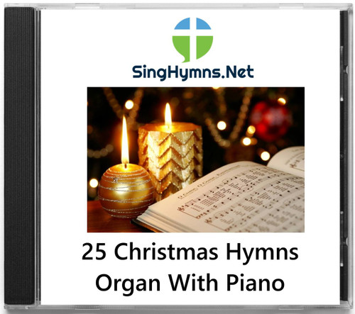 25 Christmas Hymns Accompaniment PIANO ORGAN Duo CD