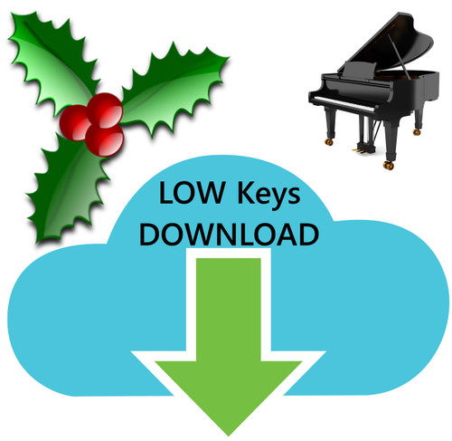 25 Christmas Hymns PIANO Accompaniment LOW Keys MP3 Download (1 Zip File)