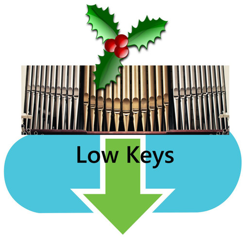 25 Christmas Hymns Organ Accompaniment LOW Keys MP3 Download (1 Zip File)