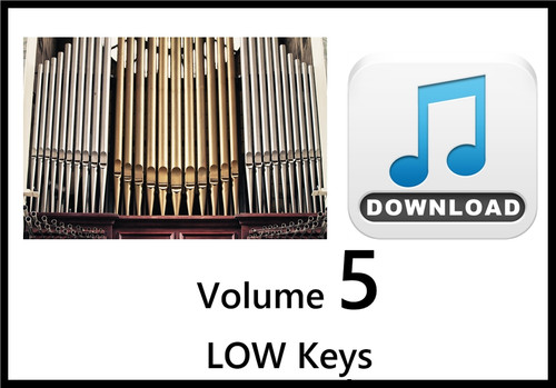 25 Hymns Volume 5 ORGAN Accompaniment LOW Keys MP3 Download (1 Zip File)