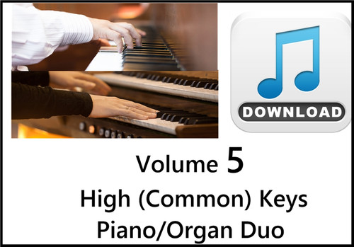 25 Hymns Volume 5 PIANO & ORGAN Duo Accompaniment HIGH (Common) Keys MP3 Download (1 Zip File)