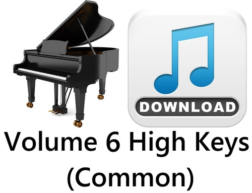 25 Hymns Volume 6 PIANO Accompaniment HIGH (Common) MP3 Download (1 Zip File)