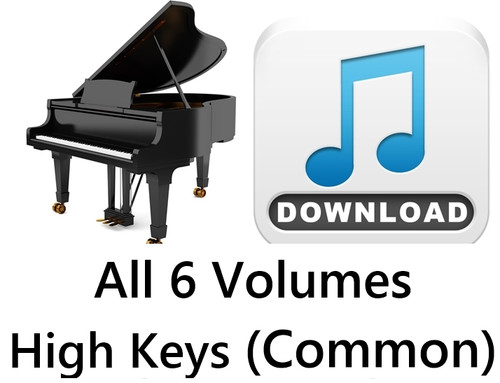 150 Hymns All 6 Volumes PIANO Accompaniment HIGH (Common) MP3 Download (6 Zip Files) Save $6.00