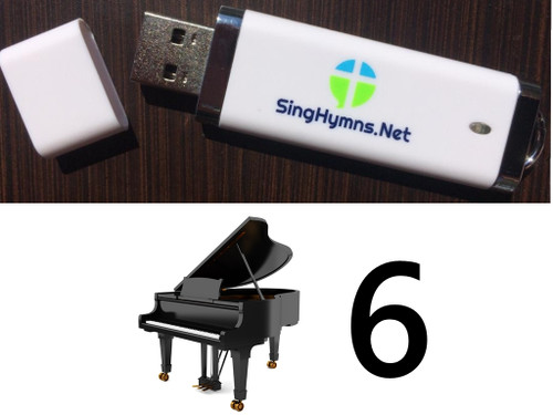 25 Hymns Volume 6 PIANO Accompaniment MP3s Loaded on USB Thumb Drive