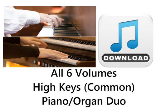 150 Hymns All 6 Volumes PIANO & ORGAN Duo Accompaniment HIGH (Common) MP3 Download (6 Zip Files) Save $6