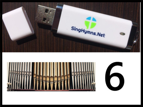 25 Hymns Volume 6 ORGAN on USB Thumb Drive