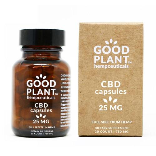 Good Plant Hemp 25 mg CBD Capsule 750mg Total CBD