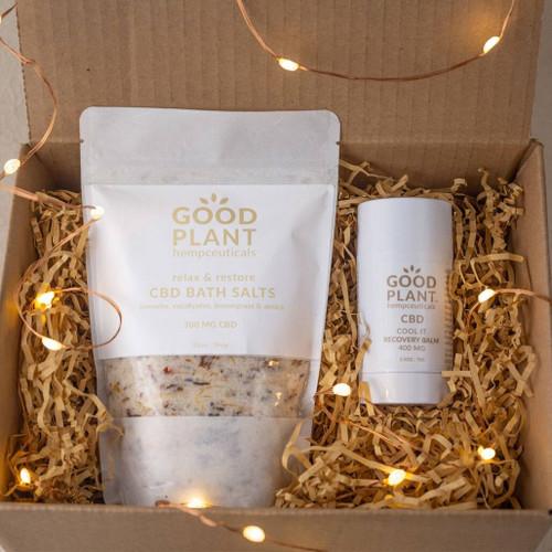 Good Plant Hemp Nurture Sore Muscles Gift Set