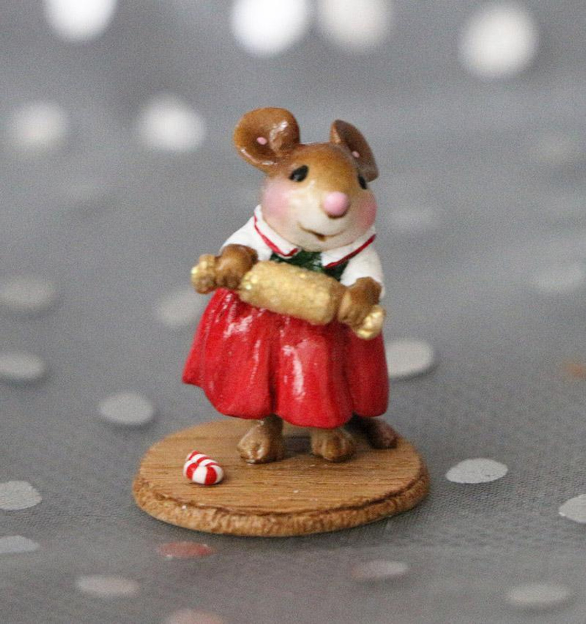 Girl Christmas Pop Up Wee Forest Folk M-681a