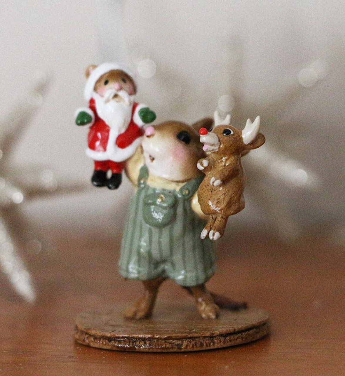 Wee Forest Folk THE SANTA AND RUDY SHOW WFF# M-657b BOY Christmas Mouse
