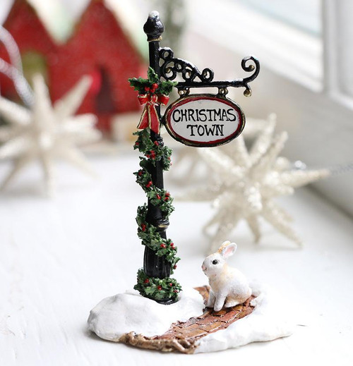 A-49b Christmas Town Sign Post - LIMITED