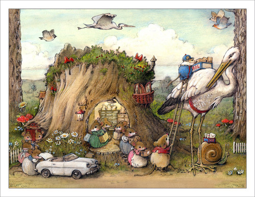 Note 21: Mousey Market Note Card (set of 6 note cards)