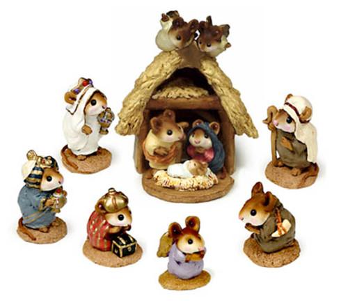 Complete Nativity set - Christmas Pageant M-117, M-114, M-121a, M-121b, M-121c, M-122a, M-122b, M-145a