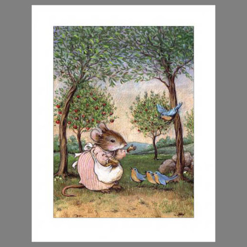 Note 4: Feeding the Bluebirds (set of 6 note cards)