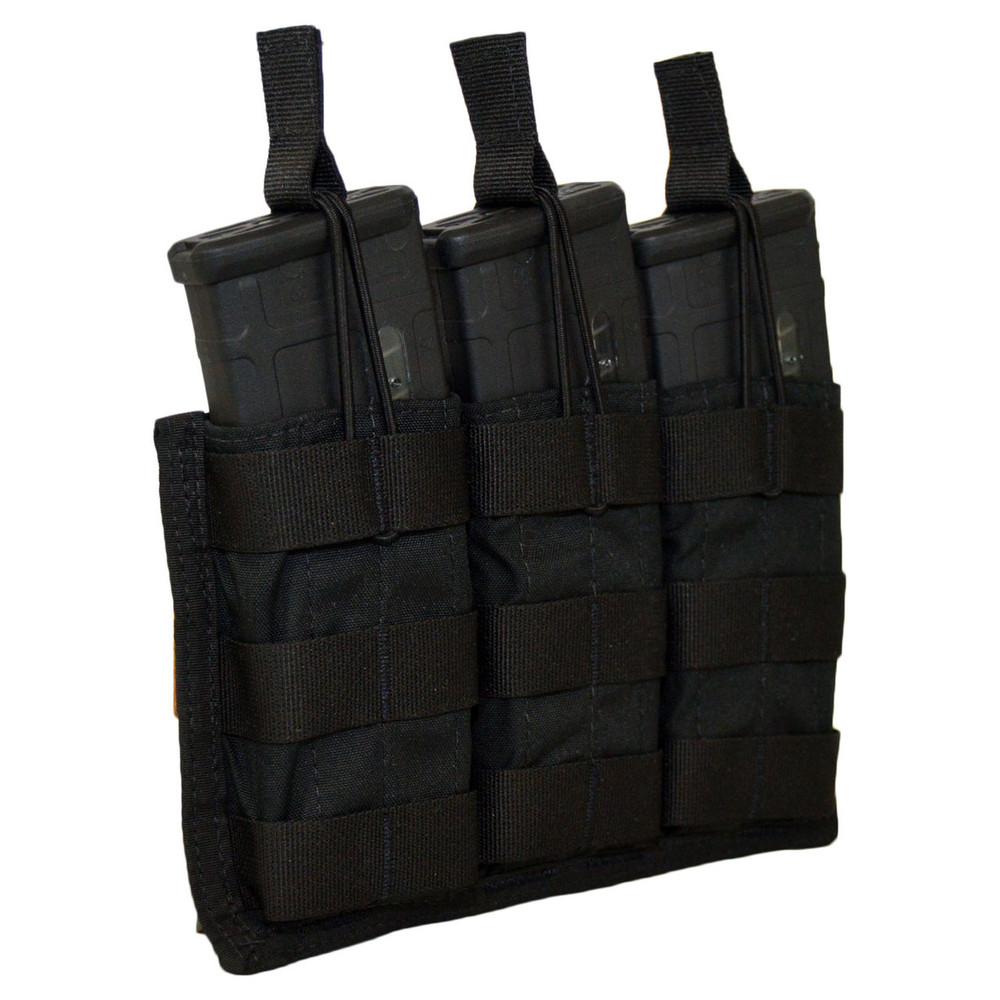 ATS Tactical Gear Triple M4 Mag Shingle in Black
