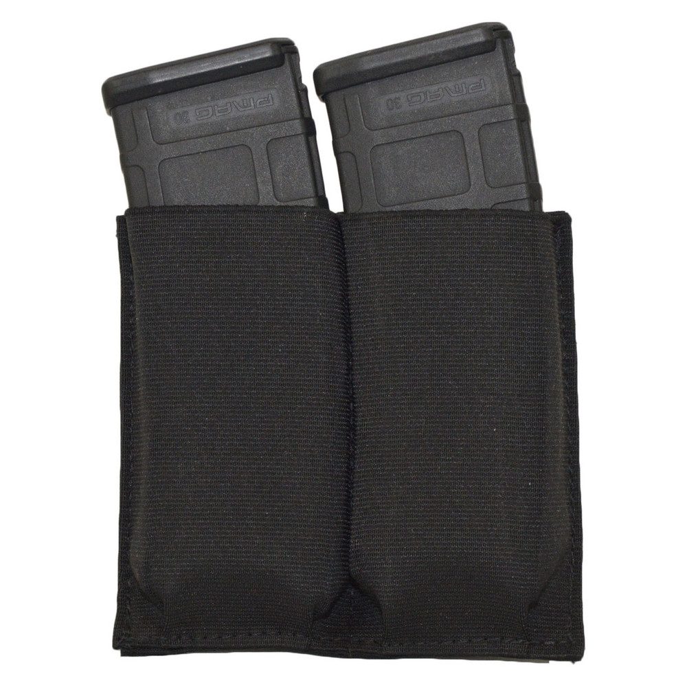 ATS Tactical Gear CAP Double Rifle Mag Shingle in Black with Mags