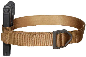 ATS Tactical Gear Riggers Belt in Coyote Brown with Gun